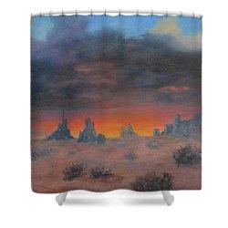 Sundown On The Desert Shower Curtain