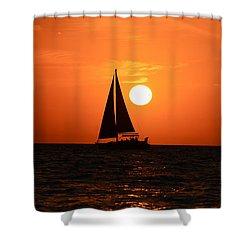 Sundown Sailors Shower Curtain