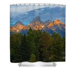 Sundrise On Grand Tetons Shower Curtain