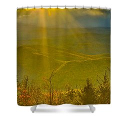 Sunflare From Mt Ascutney Shower Curtain
