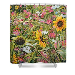 Sunflower And Cosmos Shower Curtain