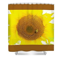 Sunflower And The Happy Bee Shower Curtain