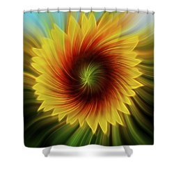 Sunflower Beams Shower Curtain