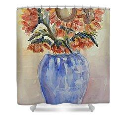 Sunflower Bouquet Shower Curtain by Heather Kertzer