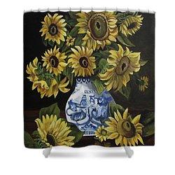 Sunflower Bouquet Shower Curtain by Kim Selig