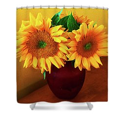 Sunflower Corner Shower Curtain
