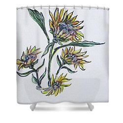Sunflower Crazy Shower Curtain