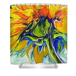 Sunflower Day Shower Curtain by Marcia Baldwin