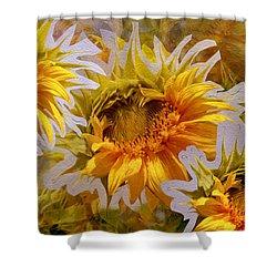 Sunflower Delight Shower Curtain by Lynda Lehmann