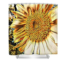 Shower Curtain featuring the photograph Sunflower In The Alley by Diane Miller