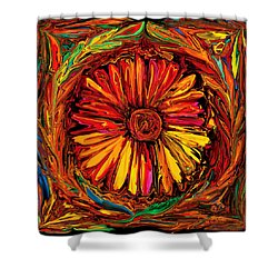 Sunflower Emblem Shower Curtain