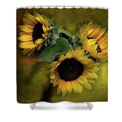 Sunflower Family Shower Curtain