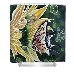 Sunflower Fantasy Shower Curtain by Dianna Lewis