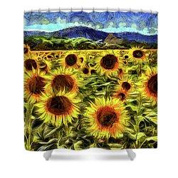 Sunflower Field Van Gogh Shower Curtain