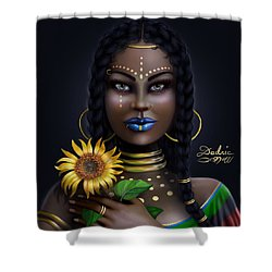 Sunflower Goddess  Shower Curtain