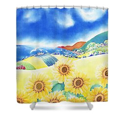 Sunflower Hills Shower Curtain