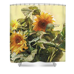 Sunflower In Love - Good Morning America Shower Curtain