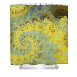 Sunflower Infused Shower Curtain