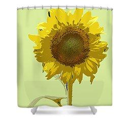 Sunflower Shower Curtain by Karen Nicholson