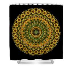 Sunflower Mandala Shower Curtain