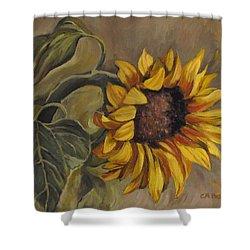 Sunflower Nod Shower Curtain by Cheryl Pass