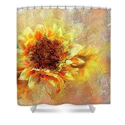 Sunflower On Fire Shower Curtain
