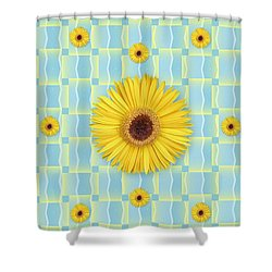 Sunflower Pattern Shower Curtain