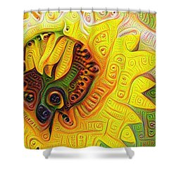 Sunflower Redeux Shower Curtain by Cathy Donohoue