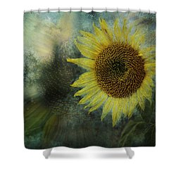 Sunflower Sea Shower Curtain by Belinda Greb