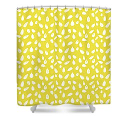 Shower Curtain featuring the mixed media Sunflower Seeds- Art By Linda Woods by Linda Woods