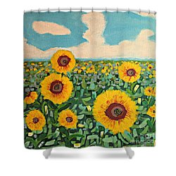 Sunflower Serendipity Shower Curtain
