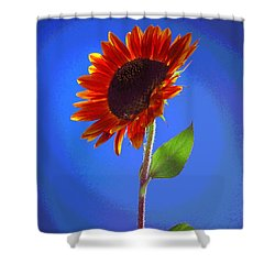 Shower Curtain featuring the photograph sunflower Solitaire by Joyce Dickens