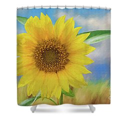 Sunflower Surprise Shower Curtain by Bonnie Barry