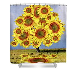 Sunflower Tree Shower Curtain