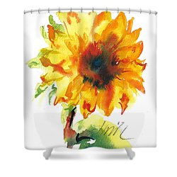 Sunflower With Blues Shower Curtain