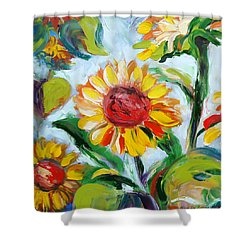 Sunflowers 6 Shower Curtain