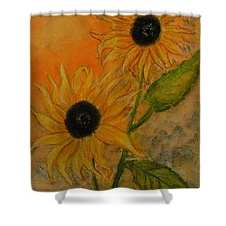 Sunflowers Shower Curtain by Carla Stein