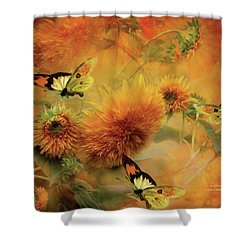 Sunflowers Shower Curtain by Carol Cavalaris