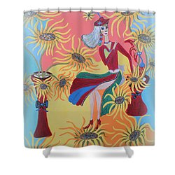 Sunflower's Contessa  Shower Curtain