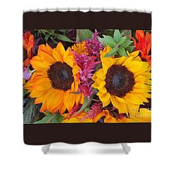 Sunflowers Eyes Shower Curtain