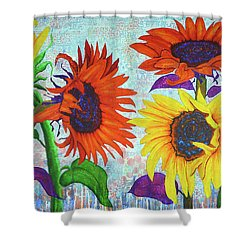 Sunflowers For Elise Shower Curtain