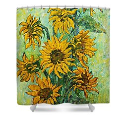 Sunflowers For This Summer Shower Curtain