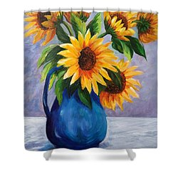 Sunflowers In Bloom Shower Curtain