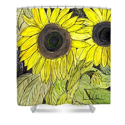 Sunflowers Shower Curtain by Lou Belcher