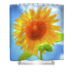 Sunflowers Make Me Smile Shower Curtain