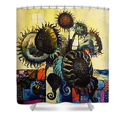 Sunflowers Shower Curtain by Mikhail Zarovny