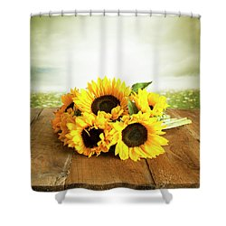 Sunflowers On A Table Shower Curtain