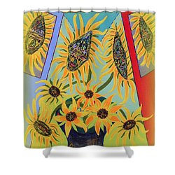 Sunflowers Rhapsody Shower Curtain