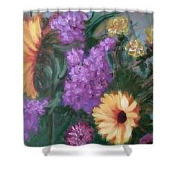 Sunflowers Shower Curtain by Sharon Schultz