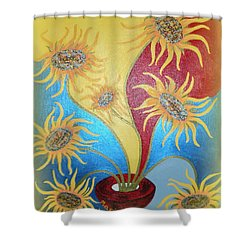 Sunflowers Symphony Shower Curtain